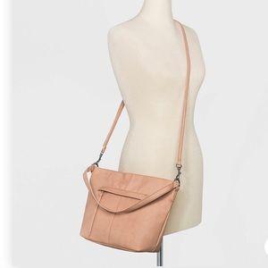 Blush crossbody hobo purse